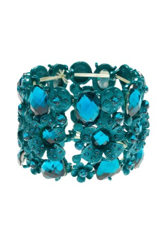 BRAZALETE BLUE FLOWERS