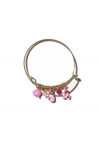 PULSERA RIBBON CHARMS