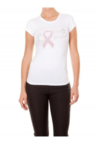 CAMISETA LOVE PINK RIBBON